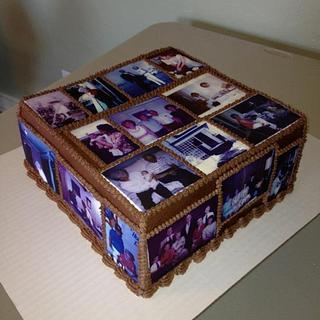 A Memory Quilt Cake for My Gram