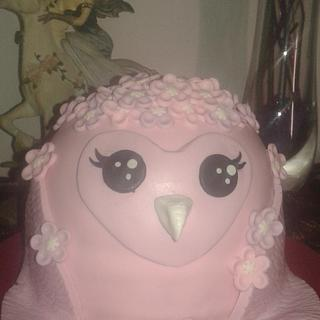 Cute owl themed cake