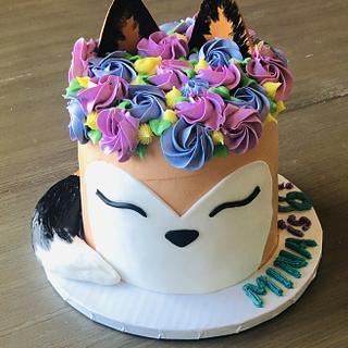 Fox birthday cake  - Cake by MerMade