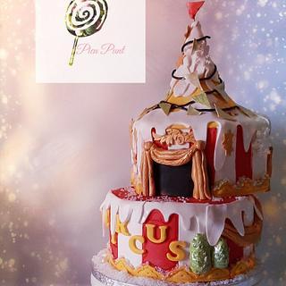 Winter circus cake