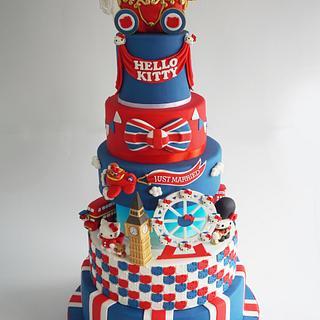 London Hello Kitty Wedding Cake