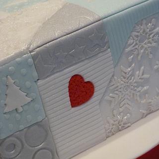 Present Christmas cake