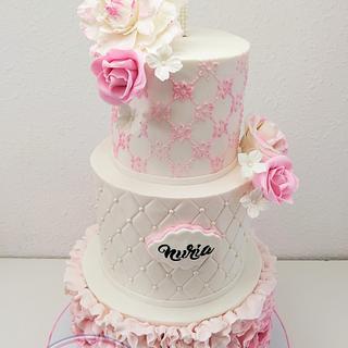 TARTA COMUNION NURIA - Cake by Camelia