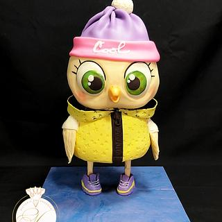 Sweet owl cake by Victoria Zagorodnya