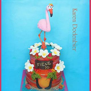 Flamingo cake - Cake by Karen Dodenbier