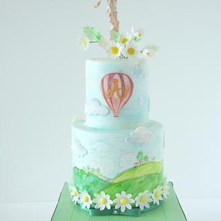 Hot Air Balloon Birthday Cake - Cake by Cookie Hound!