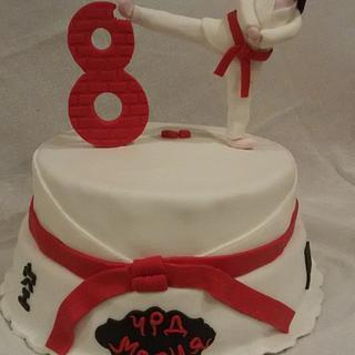 Karate girl - Cake by Alice