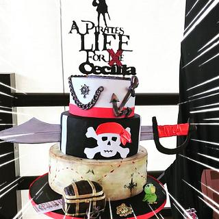 Pirates fondant cake  - Cake by Coco Mendez