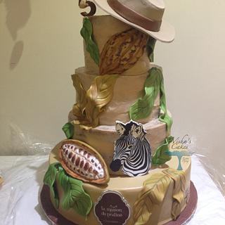 SAFARI AU PAYS DU CHOCOLAT - Cake by wisha's cakes