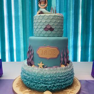 Mermaid cake and candy buffet