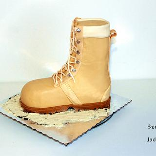Army boot cake - Cake by Judit