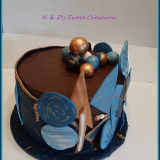 Geometric design birthday cake - Cake by Konstantina - K & D's Sweet Creations