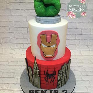 Marvel Superheros Cake