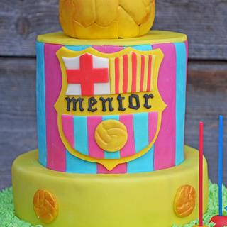 FC Barcelona! - Cake by Purple Platypus