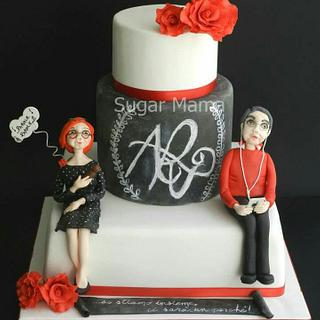 Parents chalkboard cake