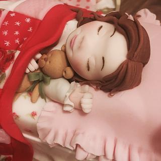 Cake international: Xmas Eve bed scene - Cake by The Rosebud Cake Company