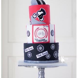 Cool BMX cake
