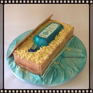 Bombay Sapphire Gift Box Cake