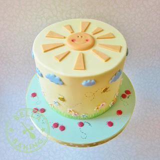 Sunny garden cake