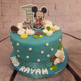 Pastel Micky mouse cake - Cake by Noha Sami