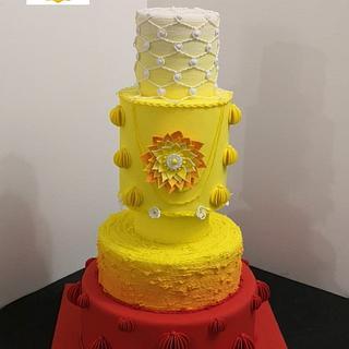 Colourfull wedding cake