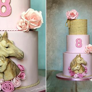 Horses cake - Cake by Lorna