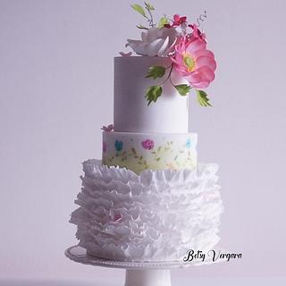 Anemone flower cake - Cake by Betsy Vergara Pitot