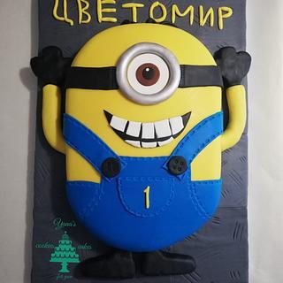 Minion Cake  - Cake by YanaNeykova