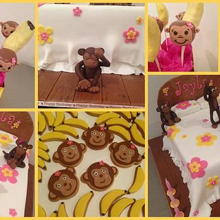 5 Cheeky Monkey's jumping on the bed - Cake by Wendy - Saraphia Kakes