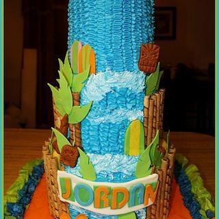 Hawaiian Luau Themed Cake for Jordan - Cake by Shey Jimenez