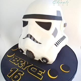 Storm Trooper Helmet Cake - Cake by Elevatecake