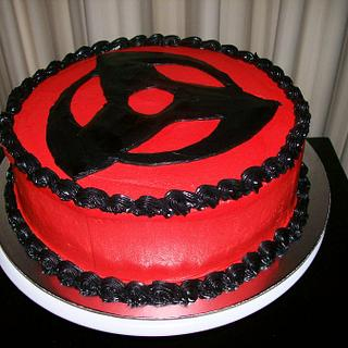 Mangekyo Cake - From the anime Naruto, this is Kakashi's sharingan!