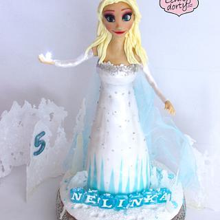 Frozen 2 - Elsa 3D cake - Cake by Lenkydorty
