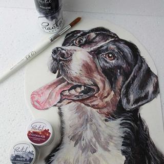 Handpainted doggy