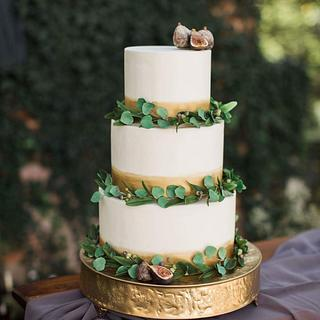 Boho rustic wedding cake