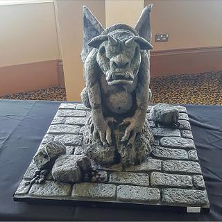 stone effect gargoyle cake