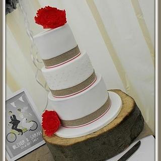 Rustic wedding cake - Cake by Gill W