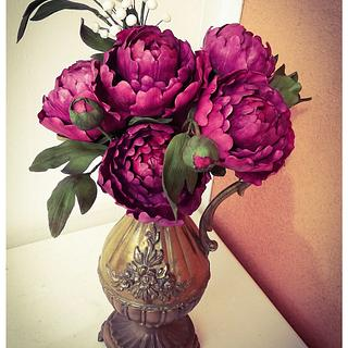 Peonies from sugar (Sugarcraft)