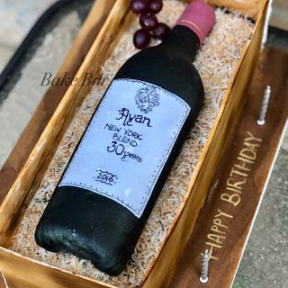 Wine bottle cake - Cake by Prats