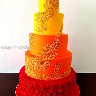 Henna Indian Wedding Cake