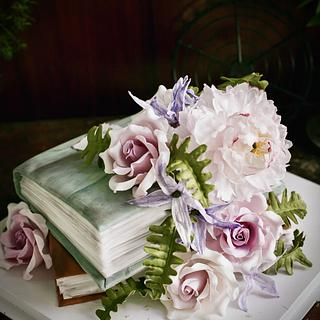 Book and flowes