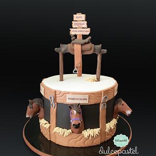 Torta Caballos Medellín - Cake by Dulcepastel.com