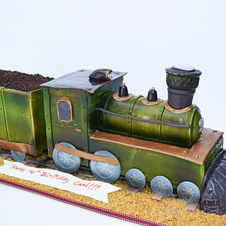 Steam Locomotive Train Cake!
