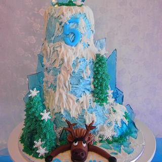 'Frozen' Mountain Cake