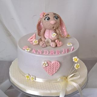 Cute rabbit cake