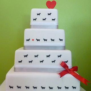 Puppy Love - Cake by Sarah Jones