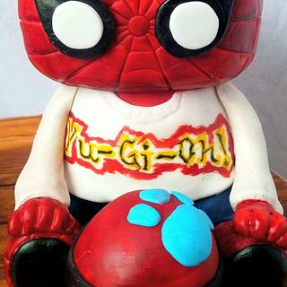 Spider-Man funko pop cake