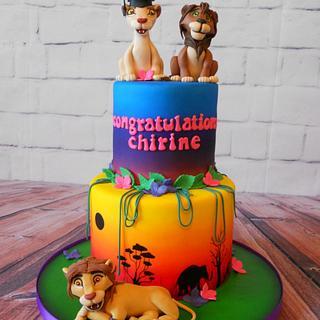 Lion king graduation cake
