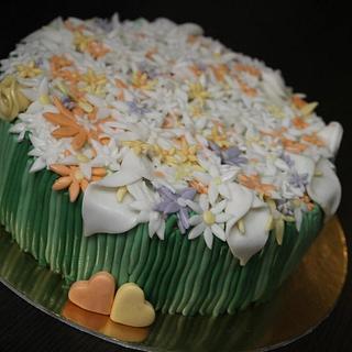 Flower basket - Cake by vikios