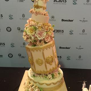 Wedding Cake - Gold Medal Winner SC2015 - Salon Culinaire - Cake by Caramel Doha